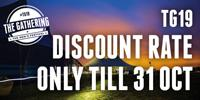 £85 PRICE FOR TG19 ENDS 31 OCT - BOOK NOW